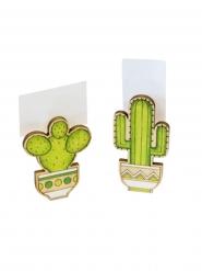2 houten cactus plaats markeringen