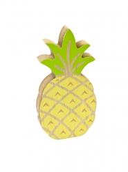 Gele en groene houten ananas decoratie