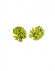 10 tropische bladeren houten confetti
