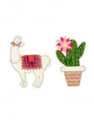9 houten lama en cactus confetti