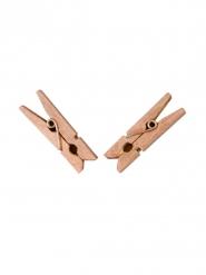 20 roségouden houten wasknijpers