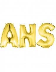 Goudkleurige ANS aluminium letter ballonnen