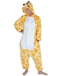 Giraffe onesie kostuum voor volwassenen