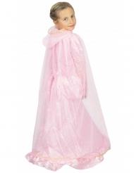 Roze en goudkleurige prinses cape voor kinderen