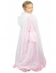 Zilverkleurige en witte prinses cape voor kinderen