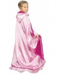 Luxe omkeerbare roze prinses cape voor kinderen