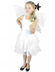 Zilverkleurige glitter fee set voor kinderen