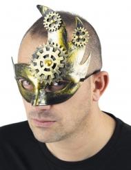 Steampunk maan half masker voor volwassenen