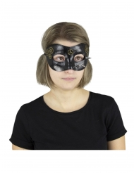 Origineel zwart Steampunk masker voor volwassenen