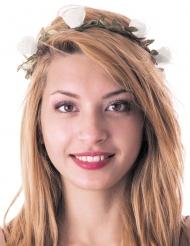 Witte bloemen haarband voor volwassenen