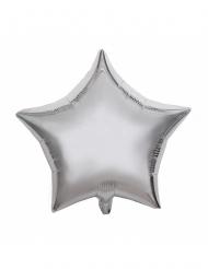 Zilverkleurige aluminium ster ballon