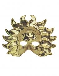 Plastic goudkleurig zon masker voor volwassenen