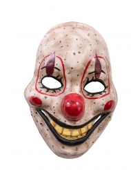 Plastic horror clown masker voor volwassenen