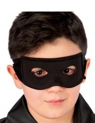 Zwart ridder masker van stof voor kinderen