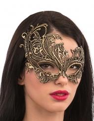 Goudkleurig oogmasker van stof voor volwassenen