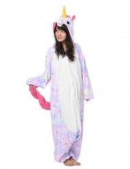 Pastelkleurig sterren eenhoorn Kigurumi™ pak voor volwassenen