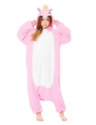 Roze eenhoorn Kigurumi™ pak voor volwassenen