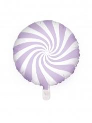 Paarse en witte lolly ballon