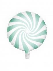 Muntkleurige en witte aluminium lolly ballon