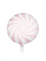 Roze en witte aluminium lolly ballon