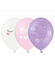 6 latex magische eenhoorn ballonnen