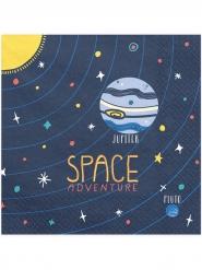 20 papieren space adventure servetten