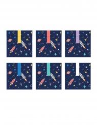 6 papieren space adventure cadeauzakjes