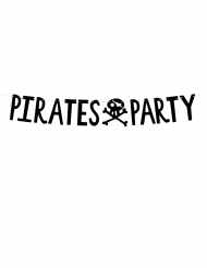 Zwarte kartonnen pirates party slinger