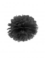 Zwarte papieren pompon hangdecoratie