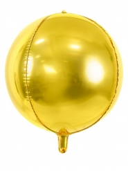 Ronde metallic goudkleurige aluminium ballon