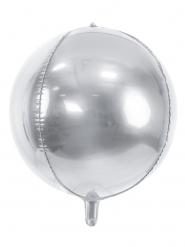 Zilverkleurige metallic ronde ballon