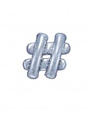 Regenboogkleurige aluminium hashtag ballon