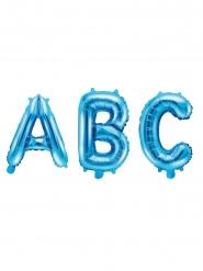 Aluminium blauwe letter ballon