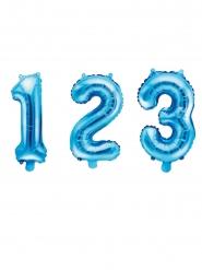 Aluminium blauwe cijfer ballon