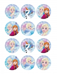 12 Frozen™ koek decoraties