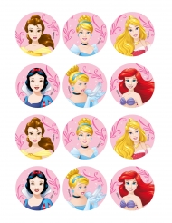 12 Disney Princesses™ koekdecoraties