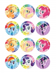 12 My Little Pony™ suikerdecoraties