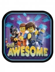 8 kartonnen kleine vierkante The Lego Movie 2™ borden