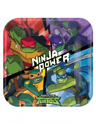 8 vierkante kartonnen Rise of the Ninja Turtles™ borden