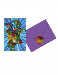 8 Rise of the Ninja Turtles™ uitnodigingen en enveloppen