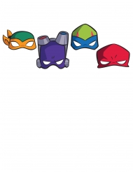 8 kartonnen Rise of the Ninja Turtles™ maskers