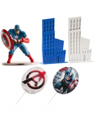 Captain America™ taartdecoratie set
