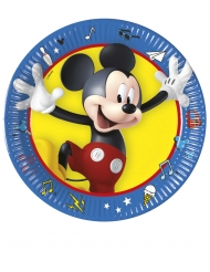 8 kleine kartonnen Mickey feest borden