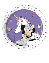 8 kleine kartonnen Minnie en de eenhoorn™ borden