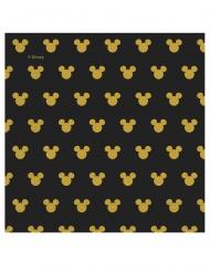 20 goudkleurige en zwarte Mickey™ servetten
