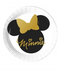 8 kleine kartonnen Minnie Gold™ bordjes