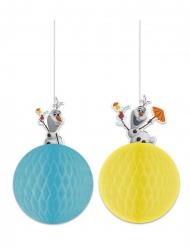2 Olaf™ papieren hangdecoraties