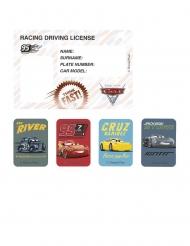 4 Cars 3™ kartonnen uitnodigingen en stickers