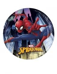 8 kleine kartonnen Spiderman™ borden