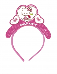 4 kartonnen roze Hello Kitty™ tiara